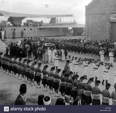 Download this stock image: Taken on the 14th Sept. 1933 when the remains of King Feisal of Iraq were brought to Haifa from Europe to be flown into Baghdad. - EC7XA9 from Alamy's library of millions of high resolution stock photos, illustrations and vectors.