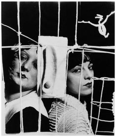 """Kiki and Lili - The Palace at 4 a.m., 1932 -by Man Ray [see also]  [""""Lili"""" was Émilie Carlu who will marry the painter Jean Dubuffet in 1937 - The """"Palace"""", Le Palais à quatre heures du matin (by Alberto Giacometti)]    via schmidt thanks to chagalov:]"""