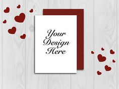 Mockup Card mockup Valentine mockup Wedding card mockup #mockup #valentine Mockup, Wedding Cards, Your Design, Unique Jewelry, Handmade Gifts, Etsy, Decor, Wedding Ecards, Kid Craft Gifts
