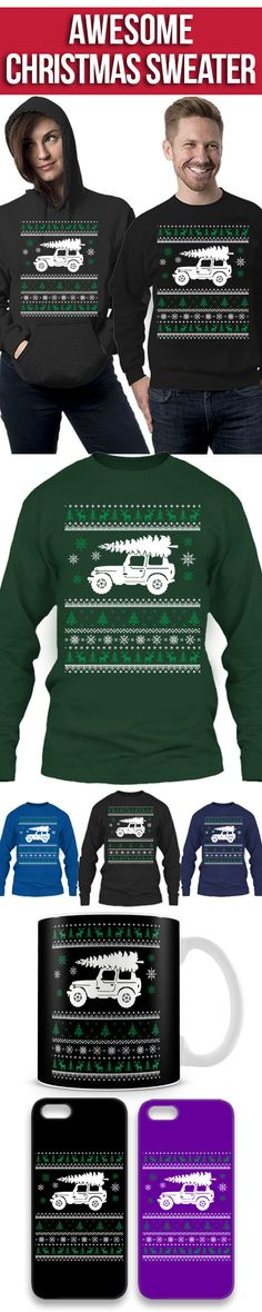 Jeep Ugly Christmas Sweater! Click The Image To Buy It Now or Tag Someone You Want To Buy This For. #4x4