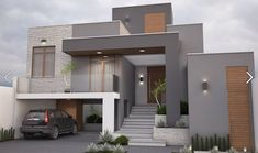 Awesome Modern House Design for Your Dream House House Front Design, Modern House Design, Contemporary Design, Modern House Plans, Contemporary Architecture, Exterior Paint Colors For House, House Colors, Exterior Colors, Modern Exterior