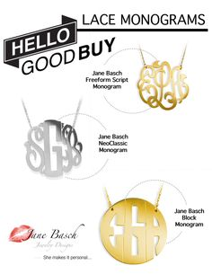 #hellogoodbuy Shop www.janebasch.com for the most variety of #personalized #jewelry!