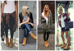 outfit botas timberland para mujer - Buscar con Google