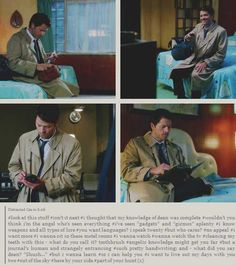 [gifs] Part of Your World: the Cas version >> Oh my gosh, this is amazing. I was cracking up!!