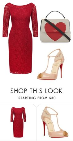 """""""Yes"""" by gods-fashion-design ❤ liked on Polyvore featuring M&Co, Christian Louboutin and Kate Spade"""
