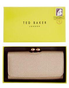 Ted Baker Crystal Top Metallic Weave Purse