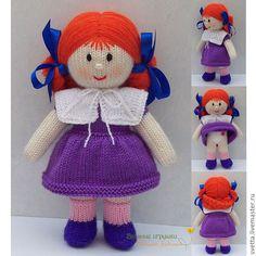 Купить или заказать 'Кукла Алиса' вязаная игрушка в интернет-магазине на Ярмарке Мастеров. Рыжеволосая девочка в сиреневом платье. Цветовое решение наряда можно по желанию покупателя изменить, так же как цвет волос и прическу. Мастер-класс по вязанию куклы Алисы размещен здесь…