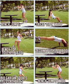 Park workout.