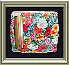 Stratton Floral Chintz Compact with Lipstick Holder