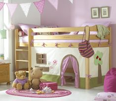 <3 <3 <3 this for a little girls room - totally gorgeous, especially the cubby house underneath the bed!!!