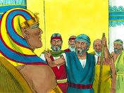 Free Bible illustrations at Free Bible images of Moses and Aaron going to Pharaoh. (Exodus 4:29 - 7:16)