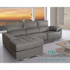 . En Mundoconfort, tienda de muebles en Vigo, encontrarás este magnífico y cómodo Sofa Chaiselongue con un potente diseño en el que destacan sus patas, fabricadas en madera de pino lacado y el diseño de sus brazos oblicuos. Cosido con doble costura de hilo