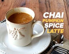 Try this delicious paleo latte made with chai tea and real pumpkin purée.