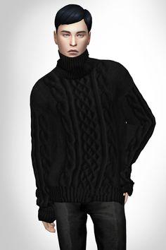 control freak — SIMS4 / loosefit turtleneck sweater DOWNLOAD 사실상...