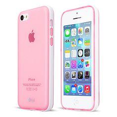 EUR € 7.99 - vaaleanpunainen irrotettava pc runko puhelimen protetive läpikuultavaa TPU kotelo iphone 5c (satunnaisia värejä) vapaa laivaliikenteen kaikki gadgetit!