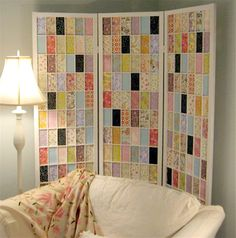 Color room dividers with mod podge and scrap paper for easy large art!