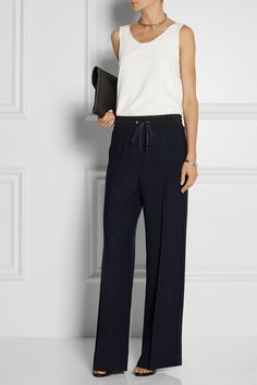 3.1 PHILLIP LIM Wool-piqué wide-leg pants $690.07