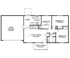 3 bed, 1 bath, 960 sq. ft. With stairs gone, can move bedroom 3's closet either to share the wall with the door or to the kitchen/bedroom wall, cut into the kitchen space for bedroom closet, change current bedroom closet to linen/coat/broom closet, then do an L- or U-shaped kitchen along the back wall, new closet wall, and stairs space.