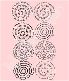 Rolled Rosette Flower Templates - Catching Colorlfies