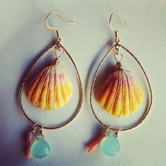 Kauai Sunrise Shell earrings