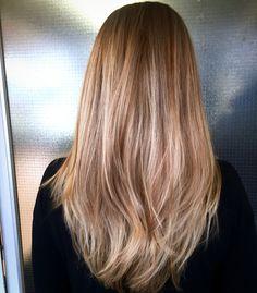 Long beachy ecaille balayaged caramel bronde hair #caramel #bronde #blonde #ecaille #balayage