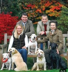 Saved just because of the dogs!Princess Anne and her family, husband Timothy Laurence and son Peter Phillips and daughter Zara Phillips Princesa Anne, Princesa Margaret, Peter Phillips, Zara Phillips, English Royal Family, British Royal Families, Princess Eugenie, Royal Princess, British Royals
