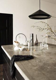Concrete Kitchen Countertops @covetlounge #covetlounge