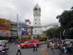 The Central Clock Tower at Nonthaburi near Bangkok in Thailand