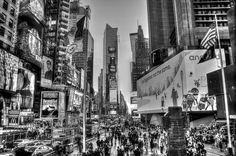 times square_hdr_bw-13