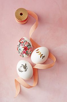 "Use temporary tattoos to ""ink"" Easter eggs with fancy florals and cute critters — it's surprisingly easy and works every time."