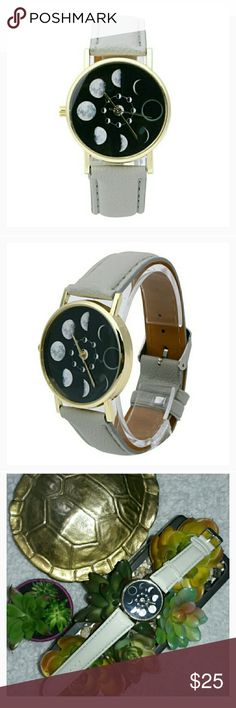 out of this world timepiece gray band  new moon phase  :) boutique Accessories Watches