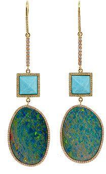 #opalearrings #opaljewelry #opals  #earrings #jennifermeyerjewelry