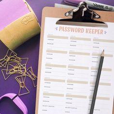 Printable Password Keeper | FaveCrafts.com
