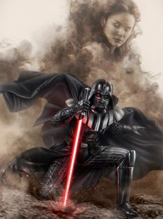 Do you think Darth Vader ever regrets turning to the Dark Side for Padme Amidala? Star Wars Fan Art, Star Wars Film, Star Wars Poster, Anakin Vader, Vader Star Wars, Anakin Skywalker, Anakin Darth Vader, Darth Vader Comic, Star Wars Pictures
