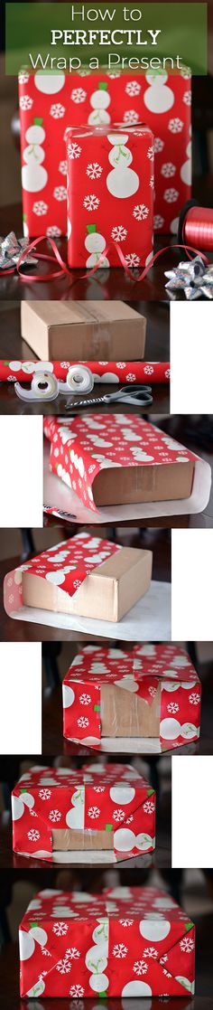 No more struggling with wrapping paper! This is how to wrap presents perfectly every single time. Happy Holidays! www.ehow.com/...