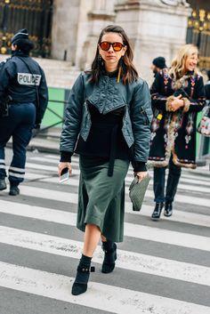 March 7, 2016  Tags Paris, Loewe, Louis Vuitton, Natasha Goldenberg, FW16 Women's, Bomber Jackets