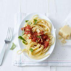 Rezept: Maccheroni mit frischer Tomatensauce