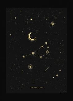 Constellations Discover The Pleiades Constellation The Pleiades Constellation Cocorrina & Co Ltd Planet Tattoo, Leo Constellation Tattoo, Andromeda Constellation, Tarot, The Pleiades, Arte Obscura, Star Constellations, Hubble Images, Star Chart