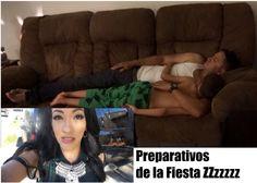 Preparando la Fiesta Alejandro se durmio