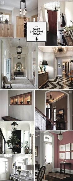 Entry foyer lighting ideas for large and small spaces
