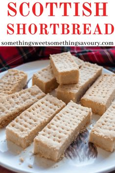 This homemade Scottish Shortbread Recipe is so much better than anything you can buy in the shops. It's buttery, crumbly, light and so easy to make at home. Biscuit Recipes Uk, Baking Recipes, Cookie Recipes, Dessert Recipes, Desserts, Scottish Shortbread Cookies, Shortbread Recipes, Best Shortbread Recipe Ever, Homemade Shortbread