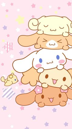 Cinnamonroll Kawaii Wallpaper, Cool Wallpaper, Macaron Wallpaper, Sanrio Wallpaper, Pastel Wallpaper, Cute Wallpaper For Phone, Hello Kitty Wallpaper, Iphone Wallpaper, Cute Chibi