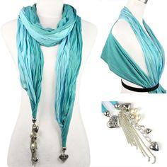 multifuncation usage jewelry scarf with tessle
