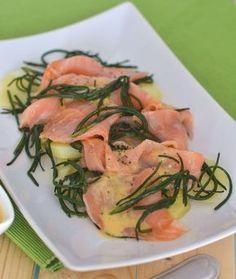 Insalata con salmone patate e agretti