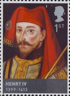 Henry IV was King of England and Lord of Ireland from 1399 to 1413. The Houses of Lancaster and York 1st Stamp (2008)