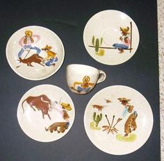 Chuck Wagon Or Round Up Plates And Cups Red Wing Collectors