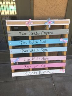 Gender reveal party welcome sign