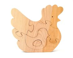 Wood Penguin Puzzle Wooden Toy Ocean Animal Puzzle 5 Piece Walnut