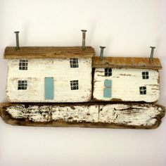 little houses, kirsty elson Driftwood Projects, Driftwood Art, Diy Projects, Driftwood Ideas, Painted Driftwood, Kirsty Elson, Beach Crafts, Inspiration Wall, Miniature Houses