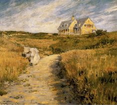 """""""The Chase Homestead, Shinnecock"""" by William Merritt Chase, American painter, 1849-1916"""